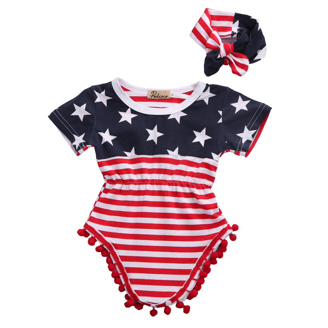2017 NEW Infant Baby Girl Boy Floral Romper Jumpsuit Kid Outfits Toddler Sunsuit Striped One-pieces (China)