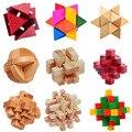 21 Estilo 3D bloques De Construcción De Madera De Madera Burr Puzzle Luban Lock Enclavamiento Aprendizaje Juguetes Educativos Juegos de Regalo para Los Niños