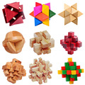 21 Style 3D Wooden Building Wood Burr Puzzle Luban Lock Interlocked Educational Learning Toys Games Gift for Kids