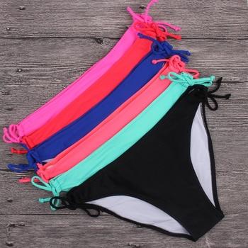 Womens Bikini Bottom Side Ties Brazilian Coverage Swimsuit Bottom