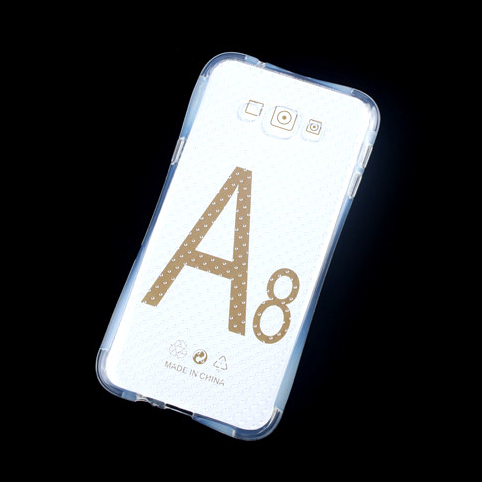 2016 Airbag Transparent Crystal Anti Knock Case for Tough Armor TPU Case Cover for <font><b>Samsung</b></font> Galaxy A8 <font><b>A8000</b></font> Cell Phone Cover image