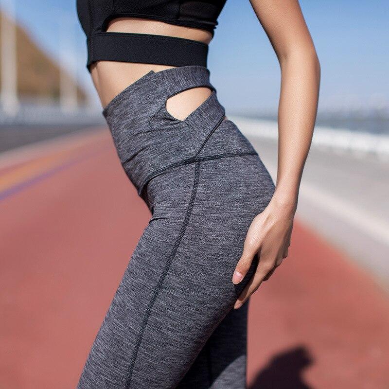 Для женщин Фитнес Высокая талия эластичный Леггинсы для женщин удобные брюки Sexy Slim Fit Леггинсы со штрипками тренировки Леггинсы для женщин ...
