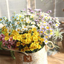 PE15 head small daisies foam artificial flower fake flowers wedding decoration home decor 6 colors  high quality China