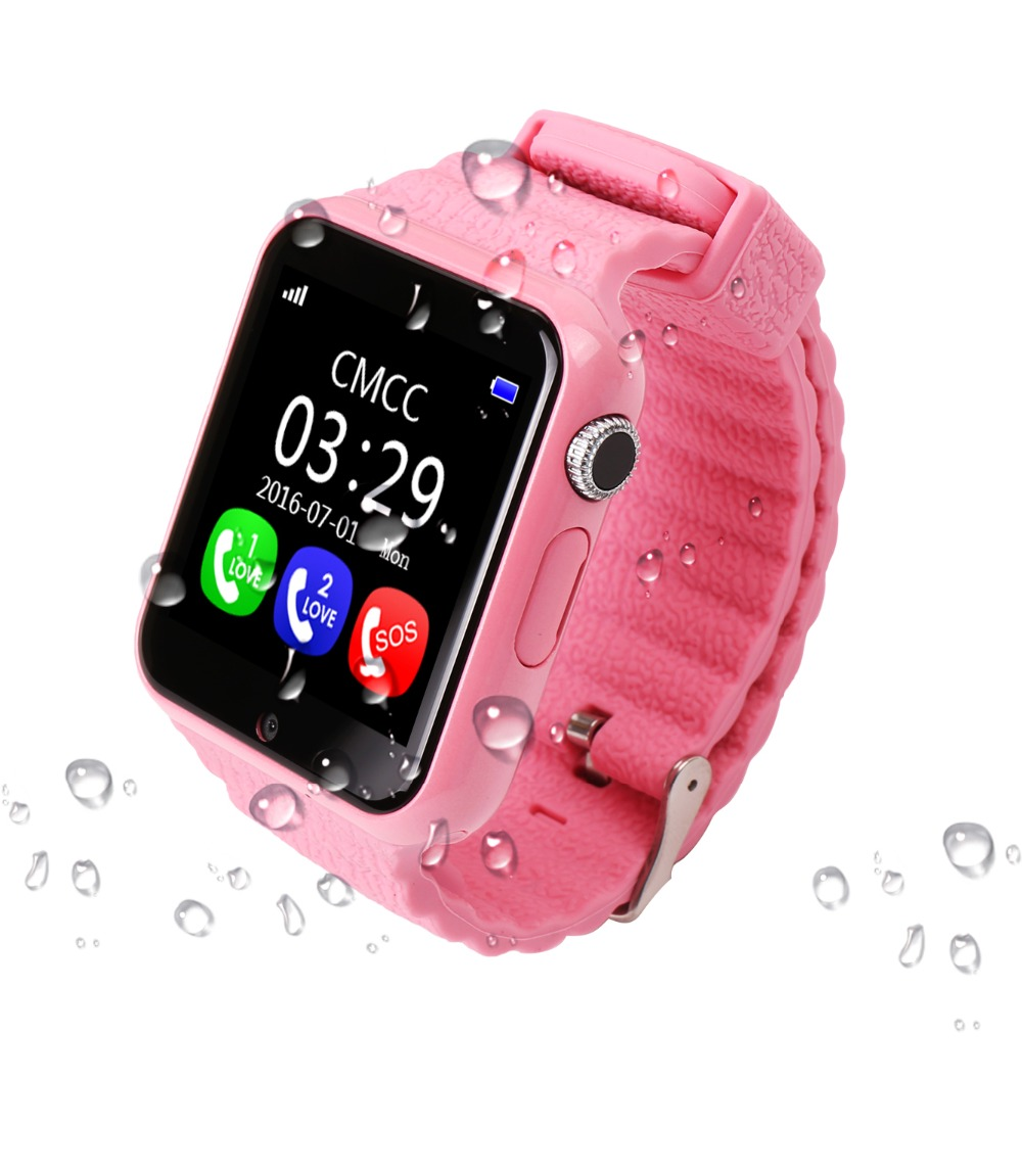 Smartch V7K Smart Baby phone Watch Kids GPS Smartwatch Touch Screen with Camera SOS Location Device