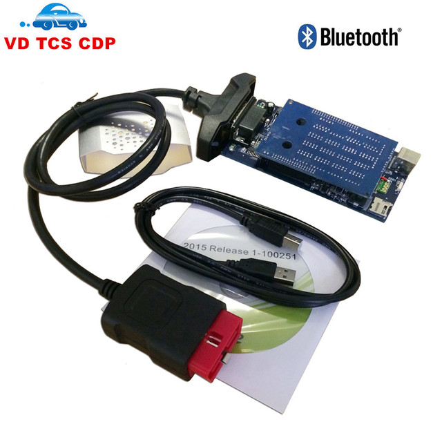 VD TCS CDP Pro Plus With LED 3 IN1 Full Set Diagnostic tool 2014.R3/ 2015.R1 Support More Cars New vci With Bluetooth Scanner