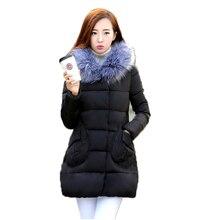 2016 Корейский Зимняя Куртка Женщины Искусственного Меха Капюшоном Хлопка Ватник Парки Для Зимы Женщин Abrigos Mujer Jaqueta Feminina A0224