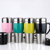 Quick Heating Car Stainless Steel Travel Coffee Mug Cup Heated
