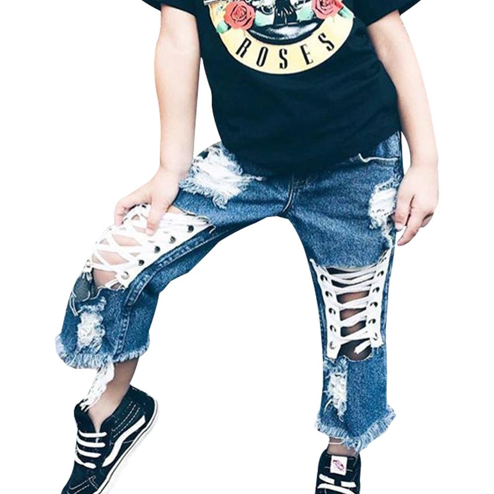 Babyinstar Qızlar Cinsləri 2018 Moda Qızları Çuxur Jeans Yay - Uşaq geyimləri - Fotoqrafiya 4