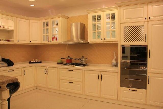 Modern Mdf Melamine Wood Kitchen Cabinet In Kitchen