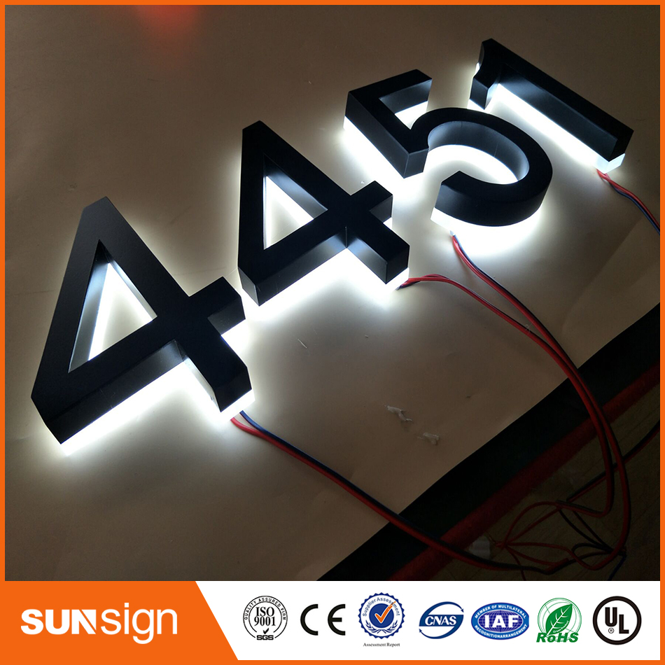 Custom Led Backlit House Numbers