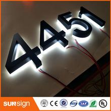 Niestandardowe podświetlany diodami led numery domów tanie tanio shsuosai acrylic led leterr sign 0043