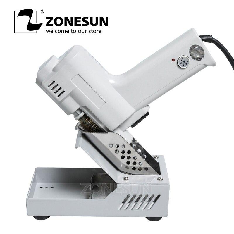 ZONESUN 110 V 220 V pompe à dessouder sous vide électrique soudure ventouse pistolet chauffage noyau d'aspiration étain S-993A torche noyau de fer 90 W