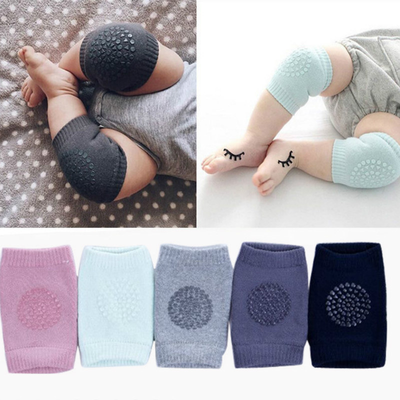 1 Pair Baby Knee Pads Crawling Safety Elbow Infant Cushion Black Baby Leg Warmer For Kids Knee Support Protector Baby Kneecap baby knee pads leg protector anti slip crawling accessory baby leg knees protector warmer baby crawling leg warmers yyt362