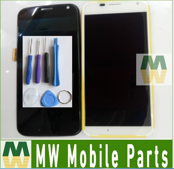 1PC /Lot  For Motorola Moto X XT1053 XT1060 XT1058 LCD Display+Touch Screen+Frame Assembly Black White color