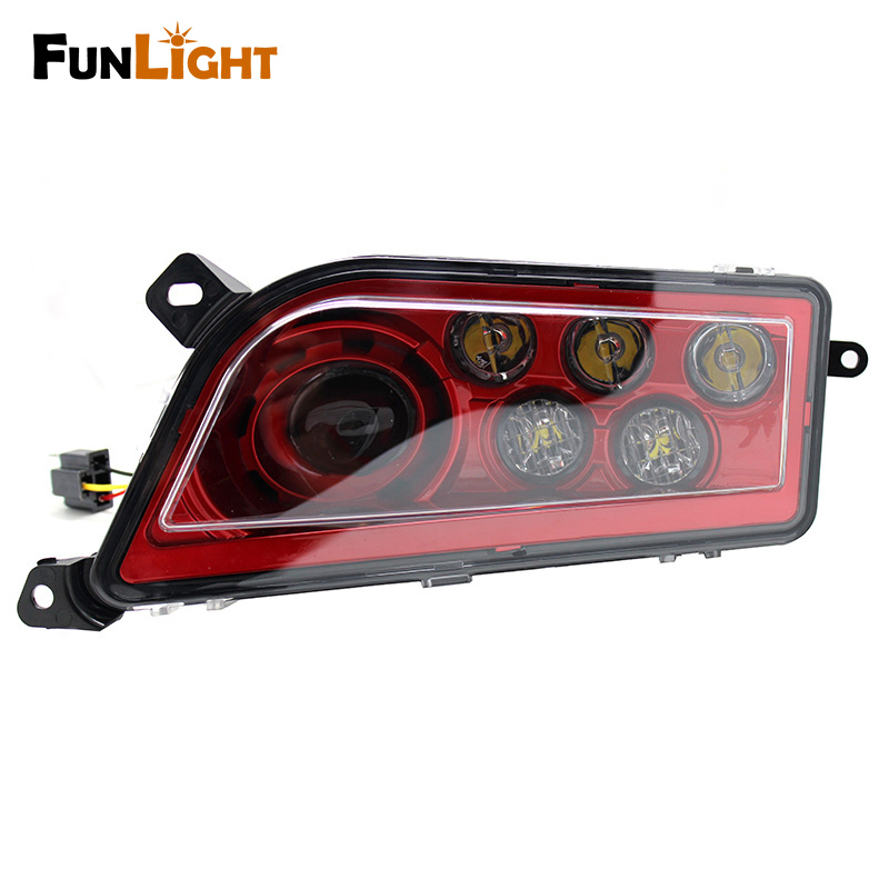 RED 2015-2016 Polaris RZR 900 / 1000 S XP Turbo LED Headlight Replacement Lamps - Replace OEM 2412335 (LH) 2412336 (RH) voltage regulator rectifier for polaris rzr xp 900 le efi 4013904 atv utv motorcycle styling