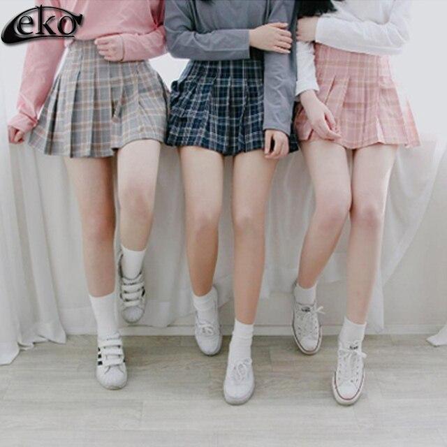 cb1afc76e Faldas de tela escocesa de Las Mujeres Venta Caliente Del Verano 2016 Nueva  Corea mujeres Uniformes Falda Plisada Falda de la Muchacha Para Las ...