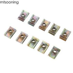 Image 3 - Mtsooning 10pcs 6mm M6 לדרוך פנל צריח אגוז Fairing קליפ אטב מהירות אבץ הרכבה מהדק עבור פולקסווגן