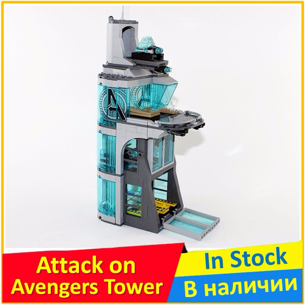 Attack on Avengers Tower 76038 Building Blocks Model Toys For Children 7114 Compatible legoing Bricks Super Heroes Figure new 765pcs sy327 super heroes assemble the avengers building bricks blocks set education toys for children minifigure page 6