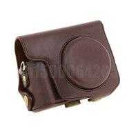 Protettiva staccabile fotocamera digitale custodia in pelle pu borsa + tracolla per can & n sx170 caffè