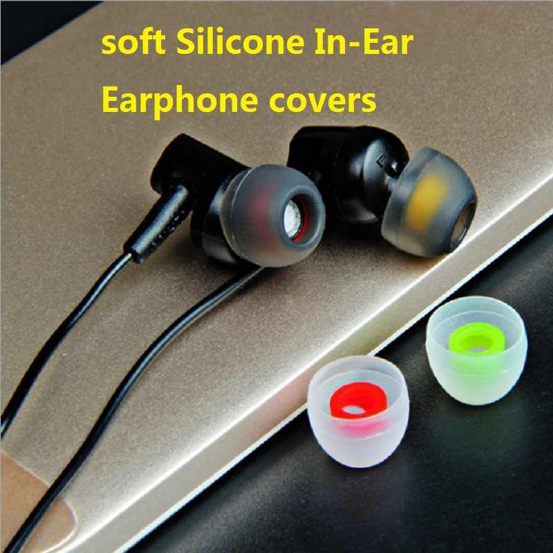 6 قطعة/3 pairs 3.8 مللي متر لينة سيليكون في الأذن سماعة يغطي ياربود نصائح سماعات الأذن مزدوجة اللون بطانة للأذن وسادة ل سماعات
