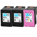 3 PK Compatible HP61XL Black & Color Ink Cartridges for HP Deskjet 2050 1000 1050 1051 1510 1512 1055 2510 2512 2514 2540 Series