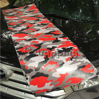 1.5m 2m 3m 5m Red Camo Vinyl Car Wrap Adhesive Urban Camouflage Film for Motorcycle Scooter Vehicle DIY Decal Printed Foil
