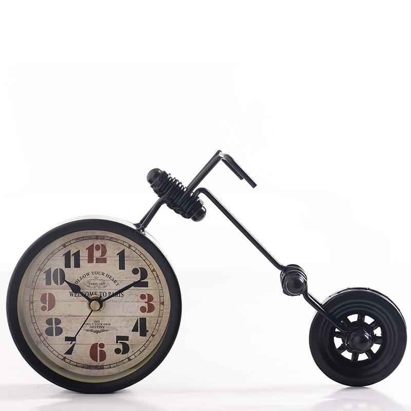 254a43a3e9d Americano Rural Ferro Forjado Modelo de Moto Relógio Criativo Handmade  Relógios de Mesa mesa Decoração de Casa
