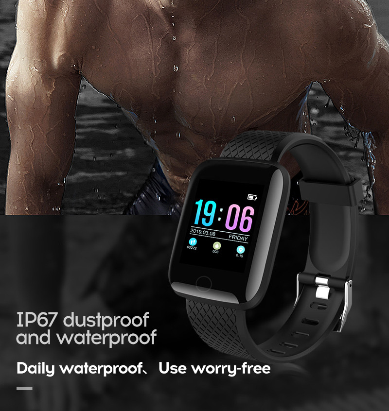 LYKRY A6S Smart Bracelet Fitness Tracker Heart Rate Blood Pressure Monitor Smart Band IP67 Waterproof Sports For Android IOS+Box (13)