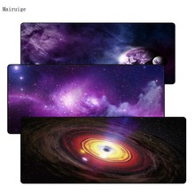 Mairuige 900*400*3mm Large Gaming Mouse pad Purple Star Space Waterproof Extended Lock Edge Computer Desk Notbook Table Cup Mat
