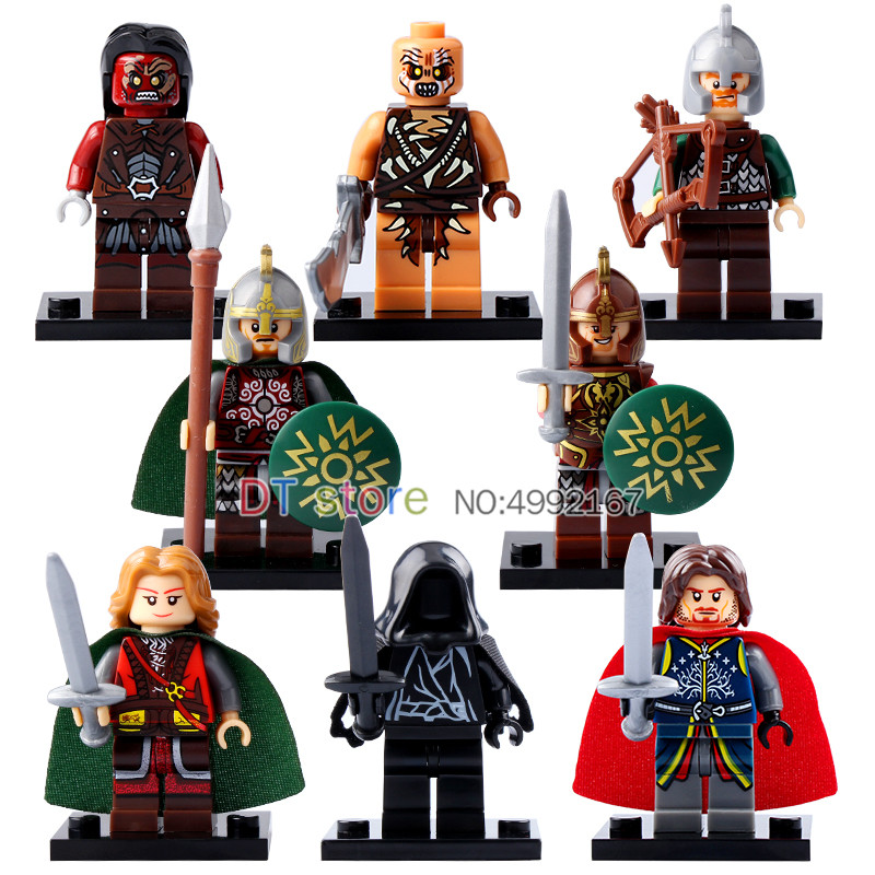 Blocks Impartial 50pcs/lot The Lord Of The Rings Legoed Figures Mordor Orc Eowyn Wraith Archer Uruk-hais Eomer Aragorn Building Blocks Toys X0142 Careful Calculation And Strict Budgeting