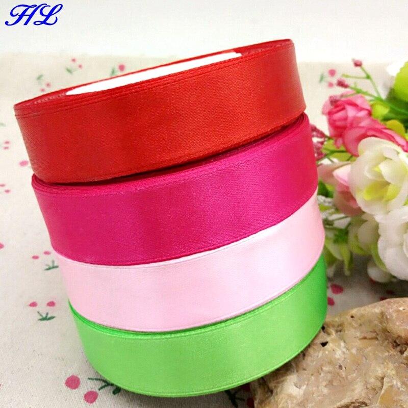 HL 4 rolls 4 cores 20mm de largura fita de cetim de casamento decoração artesanato embalagem caixa de presente cinto de tecelagem DIY produtos para o lar A258