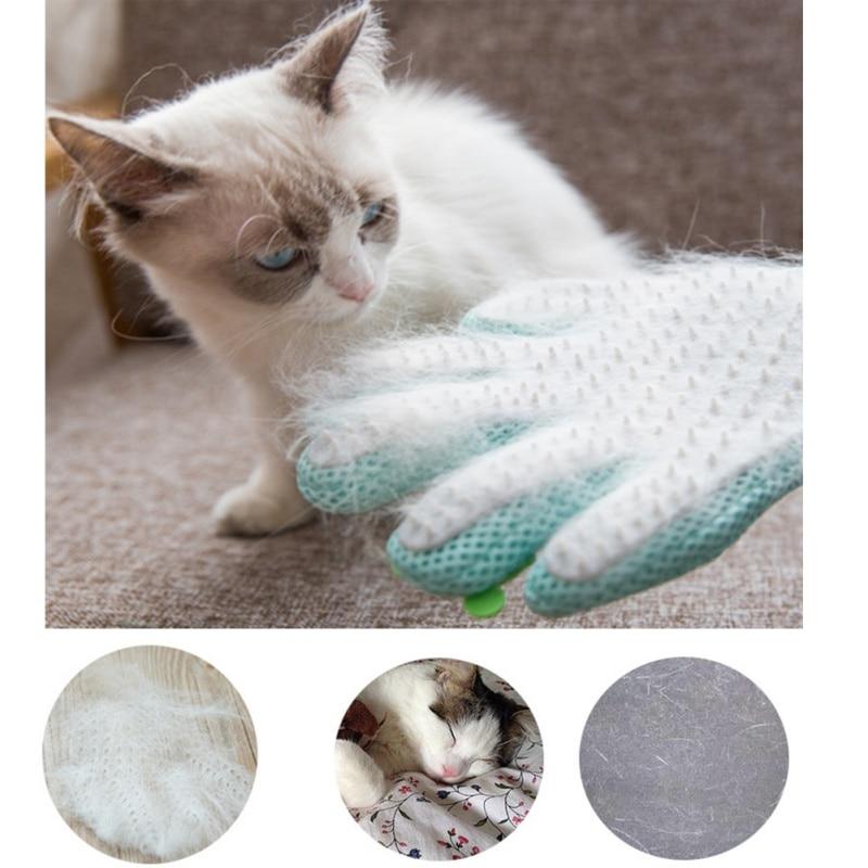 Pet <font><b>Cat</b></font> Grooming <font><b>Glove</b></font> Deshedding Brush Hair Remover <font><b>Glove</b></font> <font><b>Dog</b></font> Back Massage Fur Washing <font><b>Bathing</b></font> Comb Pet <font><b>Cleaning</b></font> <font><b>Tool</b></font>