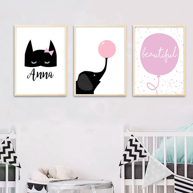 GZCJHP Batman Mask Nursery Wall Art Canvas Print Custom Poster Cartoon Elephant Balloon Nordic Painting Kids  sc 1 st  AliExpress.com & GZCJHP Batman Mask Nursery Wall Art Canvas Print Custom Poster ...
