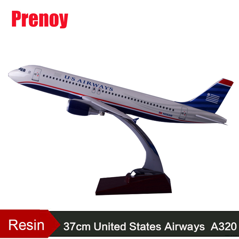 37cm US Resin Aircraft Plane Model A320 American Airlines International Aviation United States Airway A320 Airbus Airplane Model phoenix 10948 china southern airlines b 2134 1 400 md 82 commercial jetliners plane model hobby