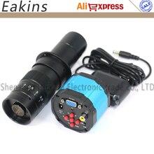 Big sale 2 in 1 VGA AV Outputs 1/3 inch Sensor 2.0MP HD Digital Industrial Microscope Camera PCB Repair Tool+180X C-mount Zoom Lens