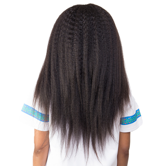 Kinky Straight Hair Clip In Human Hair Extensions Brazilian Remy