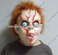 Hot Sale Realistic Halloween Scary Horror Masks Latex Chucky Doll Mask