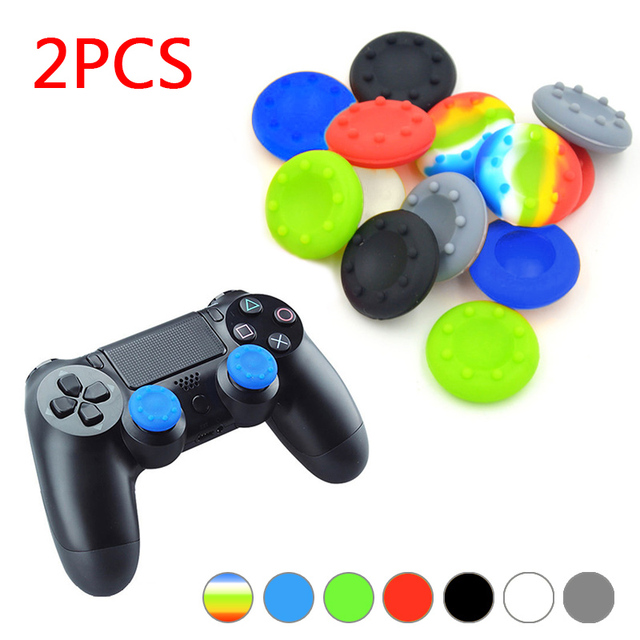 2pcs Rubber Silicone Cap Thumbstick Thumb Stick X Cover Case Skin Joystick Grip Grips For PS2/3/4 XBOX 36E Controller JLRL88 4