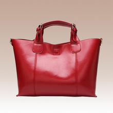 цена New European and American style atmospheric leather large-capacity handbag Cross-section square leather single shoulder diagonal