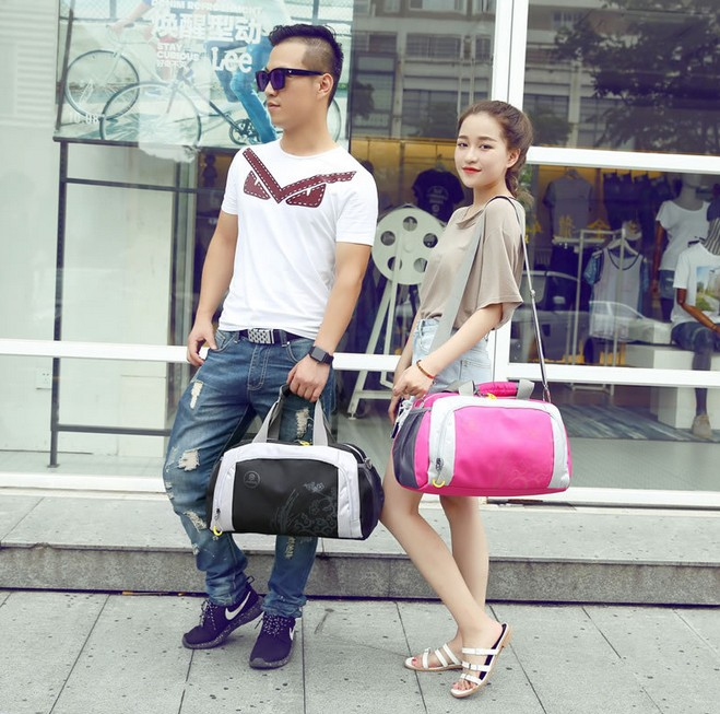 New Korean Fashion Mulitifunctional Men & Women Travel Bags Brand Waterproof Bags Printing Mens Duffle Travel Bag