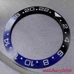 Новые 38 мм черный и синий керамика ободок Вставить Часы Комплект fit автоматический move для мужчин t для мужчин смотреть ободок
