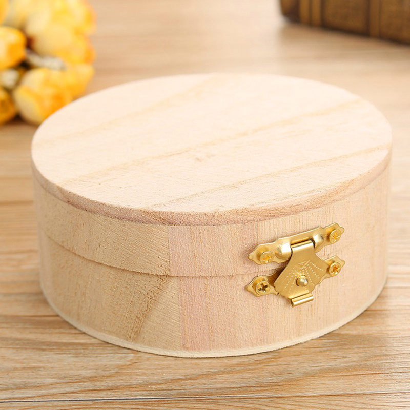 Jewelry-Box Lipstick Gift-Box-Storage Packaging Organizer Wooden As Round Boutique