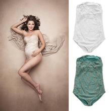 Lace Rompers for Pregnancy Photography Props Women Photo Shoot Dress(China)
