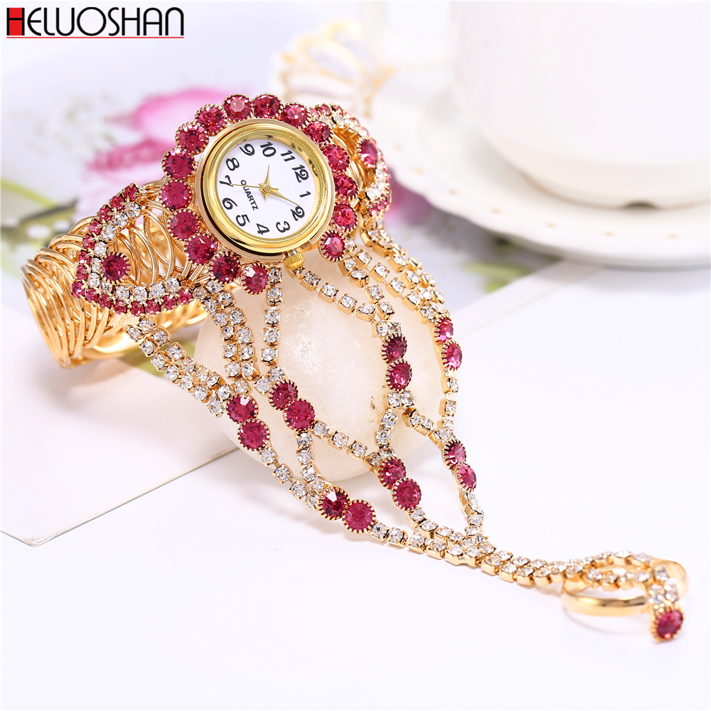 2019 Top Brand Luxury Clock Rhinestone Bracelet Watch Women Watches Ladies Wristwatch Relogio Feminino Reloj Mujer Montre Femme