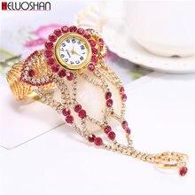 2020 роскошные часы ведущей марки Стразы браслет женские наручные