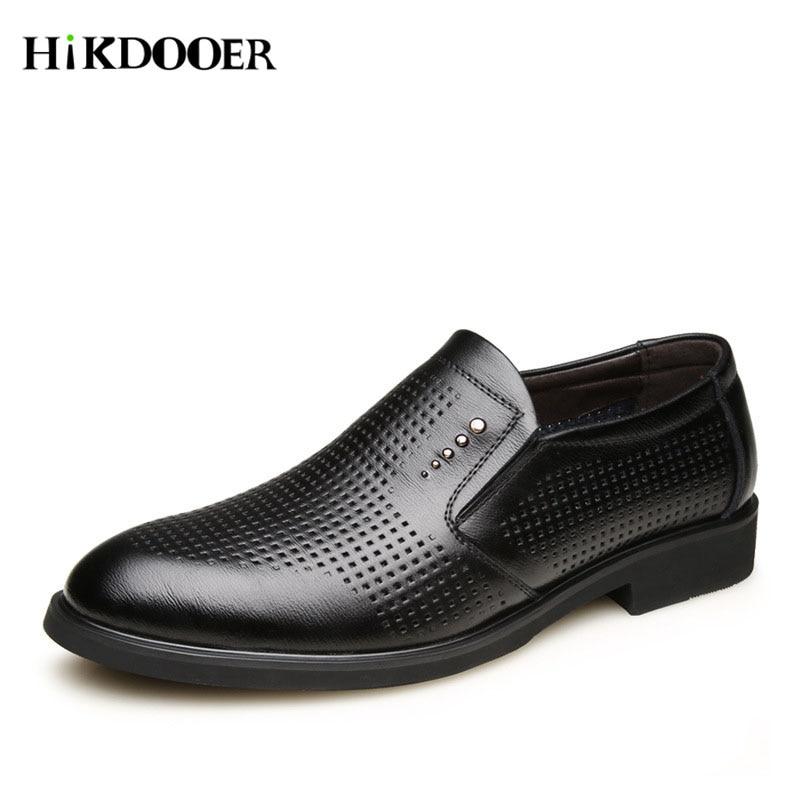 Par En Pour Vestir Respirant Hommes Plat Nouvelle marron Noir Chaussures Zapatos Hombre Formelle Des Arrivée Glissement Sur Véritable De Cuir wYqaPZqpnz