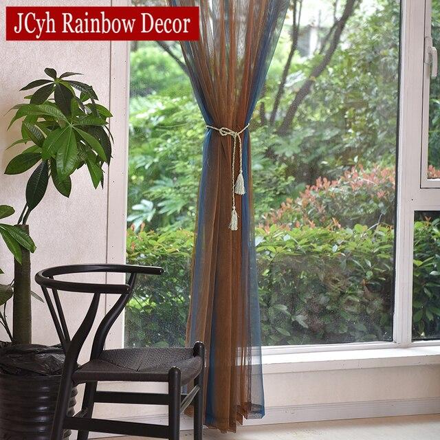 Lusso Puro Finestra Tenda Pura Tende di Tulle Per Soggiorno Moderno Per Camera Da Letto Voile Kitchen Door Tende Tende In Tessuto
