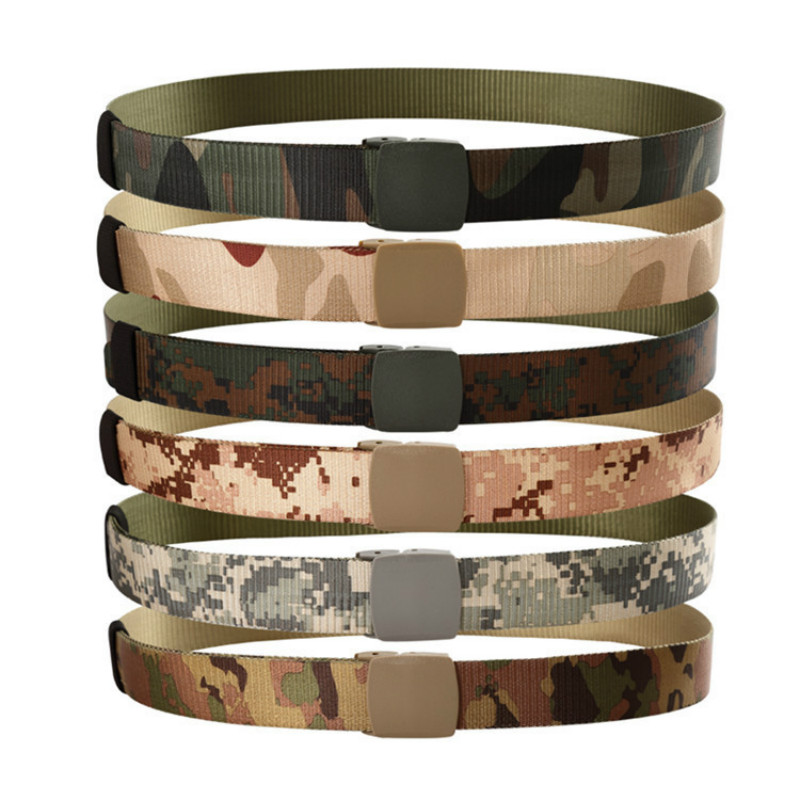 NEW Outdoor Military Army Tactical Belts Men's Special Forces Camo Nylon Waist Belt Support Waist Men's Safety