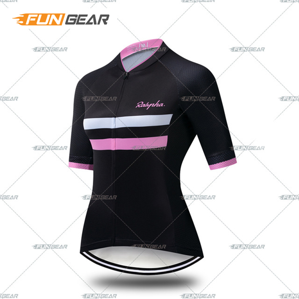 Women 39 s Team Cycling Jersey Short Sleeve FUNGEAR Biking Clothing Bicycle Wear Polyester Breathable Quick Dry Road Racing Shirt in Cycling Jerseys from Sports amp Entertainment