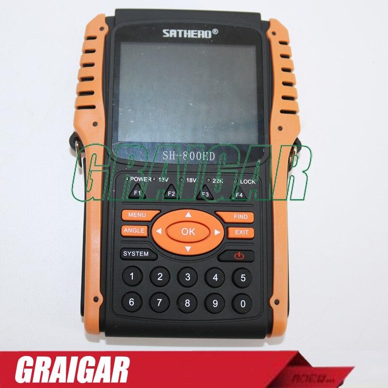 SH-800HD Signal Digital SAT Finder Compteur HD DVB S2 USB2.0 HD Spectrum analyzer Digital Satellite Finder SH -800 Mete 800 HD шр 22 800
